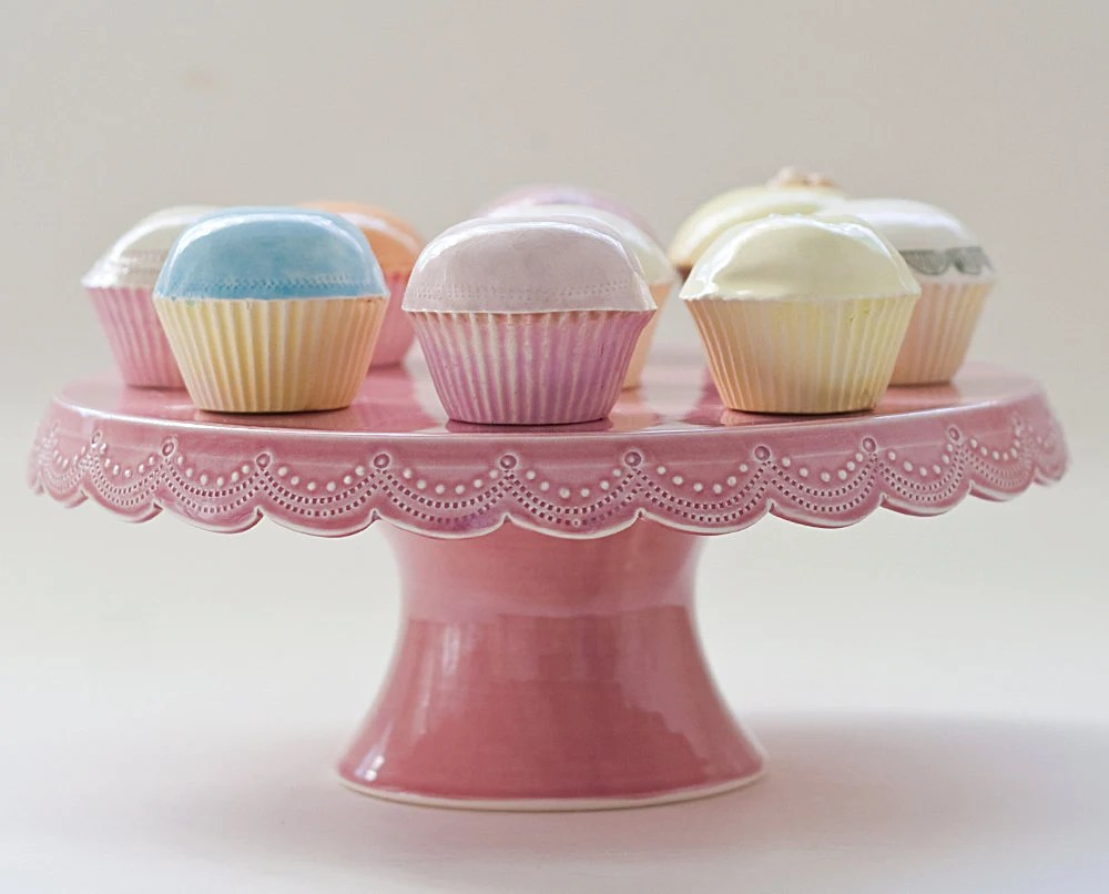 Stitching Cake Stand by vesselsandwares