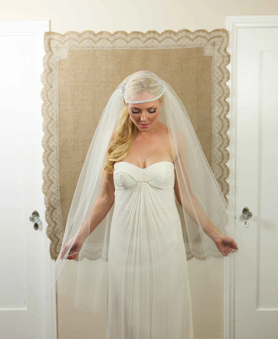 NEW 55 Inch Madam Violet's Bridal Cap Wedding Veil