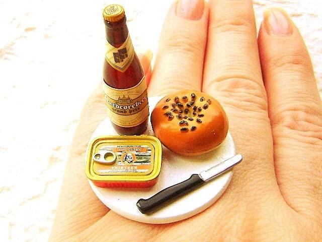 Beer Ring Bagel Sardines