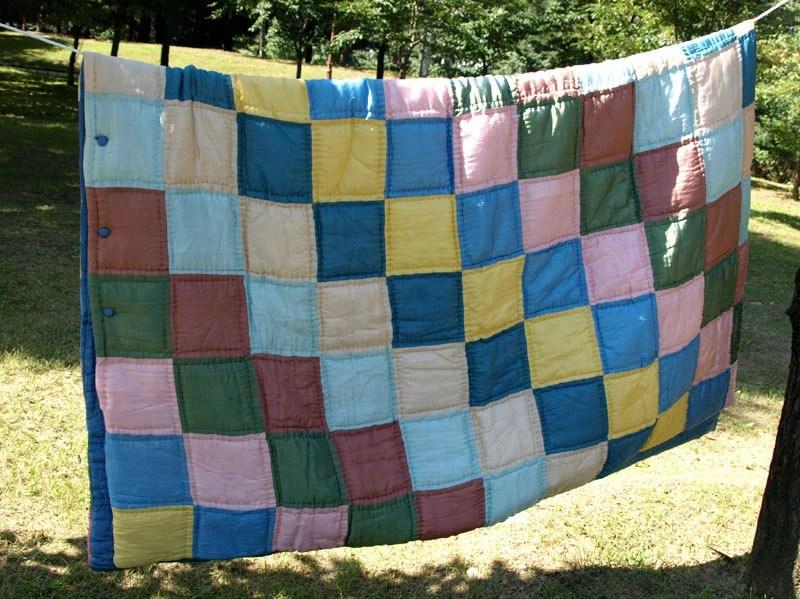 Silk Padded Patchwork Quilt Blanket - Oriental Silk Bedding