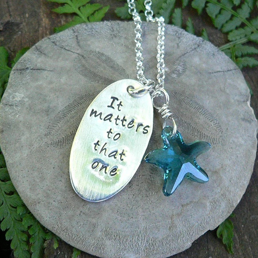 The Starfish Story Necklace by birthdesigns on Etsy