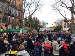 Foto: El Paseo del Borne acoge la celebración del Día Internacional de la Vida (EUROPA PRESS)