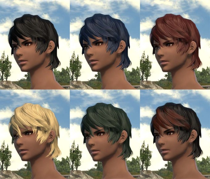 about the hairstyles : ffxiv