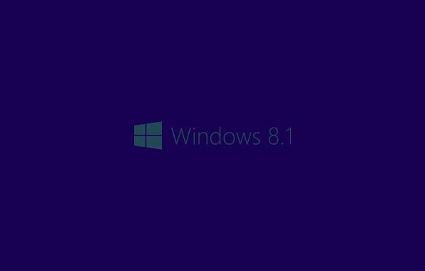 Обои windows 8.1, фон, синий, логотип картинки на рабочий ...
