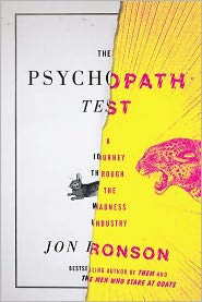 The Psychopath Test by Jon Ronson: Book Cover