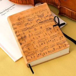 Duchessa Music Notes Italian Printed Leather Journal With
