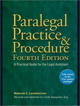 book cover for Paralegal Practice and Procedure