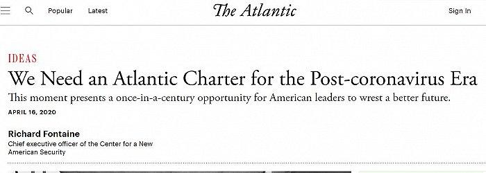 制定新冠疫情后国际秩序?美英将签署新《大西洋宪章》