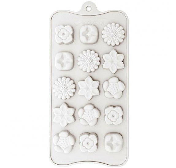 moule pour savon rico design made by me fleurs 15 cavites