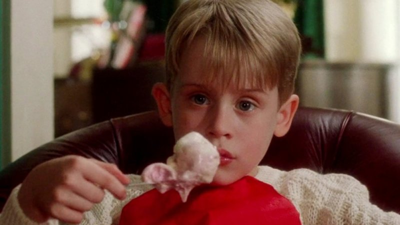 Kevin eating ice cream in Home Alone