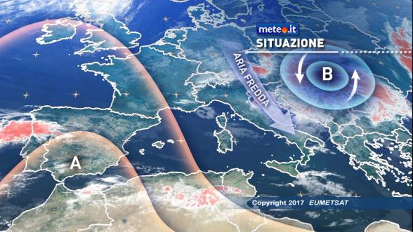Meteo Italia. Fino a venerdì tempo instabile, brusco calo termico e forti venti | NEWS METEO.IT