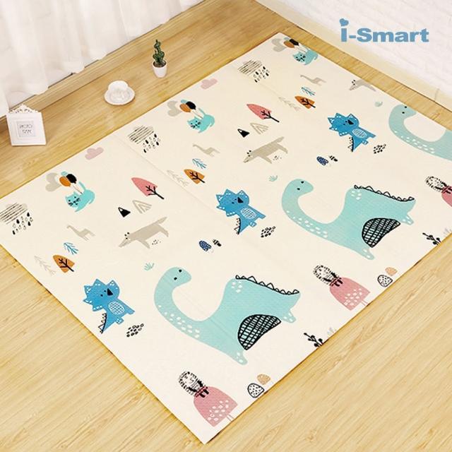 【i-Smart】寶寶折疊爬行墊 圖案隨機(遊戲地墊 安全地墊 摺疊地墊 無毒地墊 爬行墊)