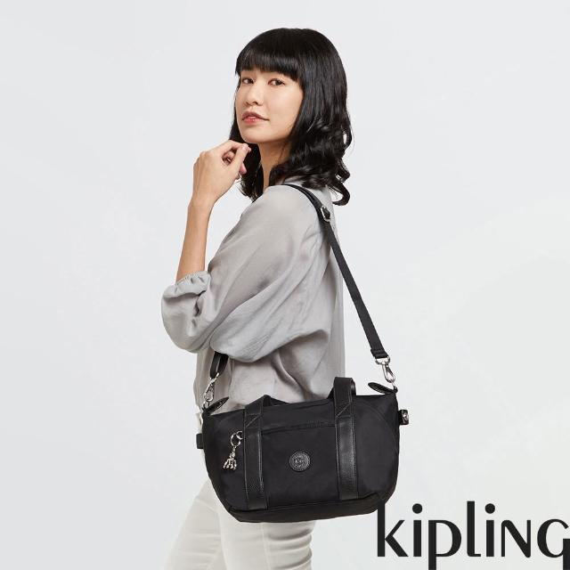 【KIPLING】低調沉穩黑手提側背包-ART MINI