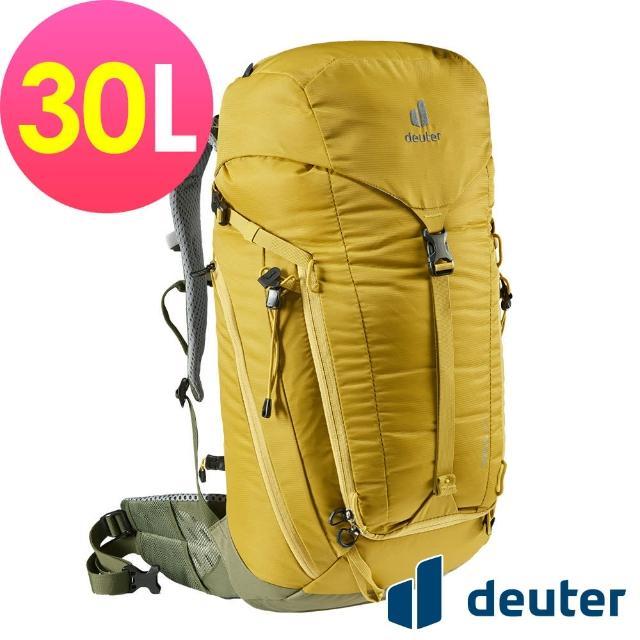 【deuter】TRAIL 30L輕量拔熱透氣背包(3440521薑黃/戶外休閒包/健行包/登山包)