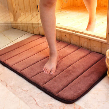 50X80cm Micro Suede Soft Bathroom Carpet Memory Foam Bath Mat