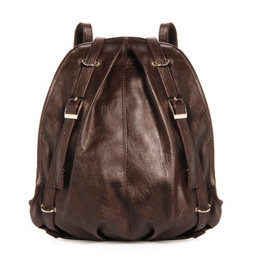 Korean Fashion Leather Casual Backpack Shoulder Bag