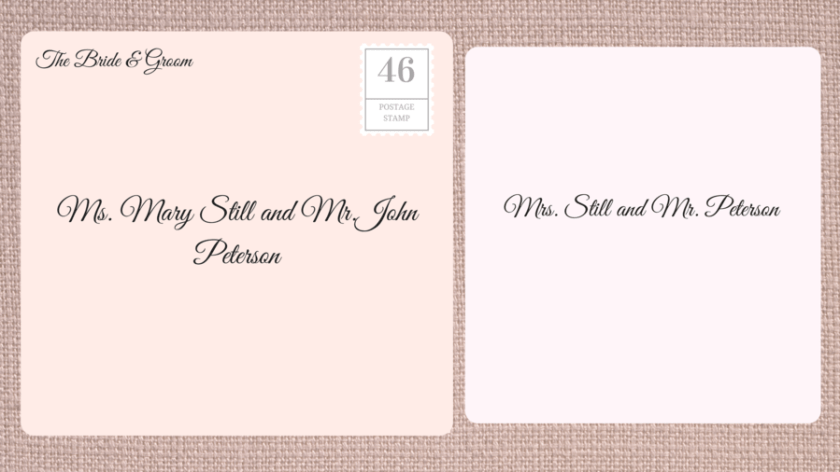 Addressing Double Envelope Wedding Invitations To Married Couple Maiden Name