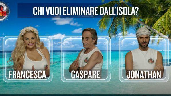 """""""Isola dei Famosi"""", si decide il primo finalista: chi uscirà tra Francesca, Gaspare e Jonathan?"""