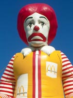 Picture of Ronald MacDonald looking sad
