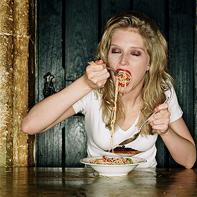 inhale food
