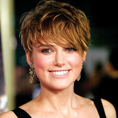 Keira Knightley Short Messy Hairstyles