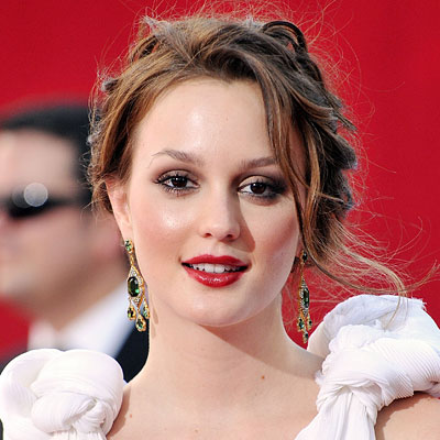Leighton Meester-Red Lipstick