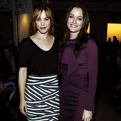 Rachel McAdams and Leighton Meester - Altuzarra - NY Fashion Week - Day 3