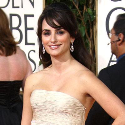 2009 Golden Globes, Hair Trends, Side-swept bangs, Penelope Cruz