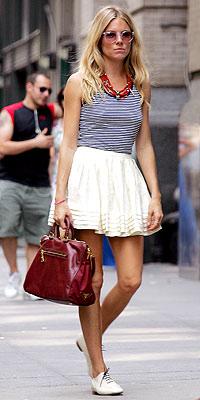 Sienna Miller with Prada bag