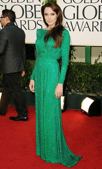 Angelina Jolie - Versace - Salvatore Ferragamo - Golden Globes 2011