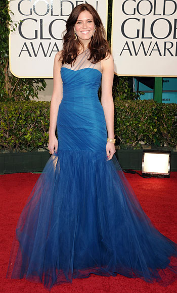 Golden Globes 2011 - Mandy Moore - Monique Lhuillier