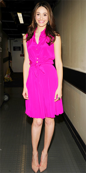 Emmy Rossum in DKNY