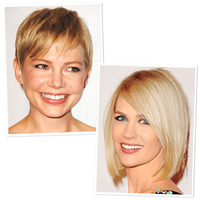 Michelle Williams and January Jones