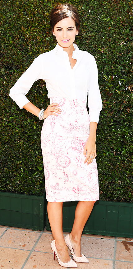Camilla Belle in Carolina Herrera