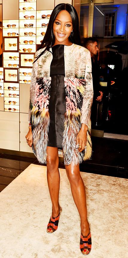 Naomi Campbell in Fendi