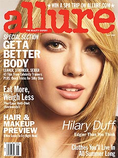 She So Ghetto Hilary Duff Allure Magazine Cover