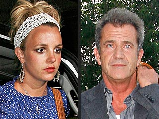 Britney and Mel's Cigar Club Rendezvous   Britney Spears, Mel Gibson