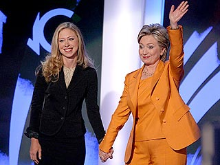 Our future first female President with her mom.