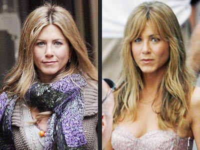 JENNIFER ANISTON The Marley and Me star gets into character with heavy bangs