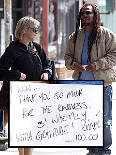 Renée Zellweger Plays Barista to Good Samaritan | Renee Zellweger