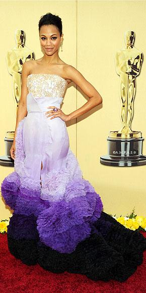 Zoe Saldana in Givenchy Haute Couture