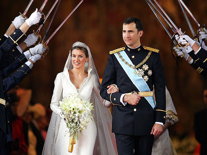 Spain's Crown Prince Felipe when he married Letizia Ortiz in Madrid.