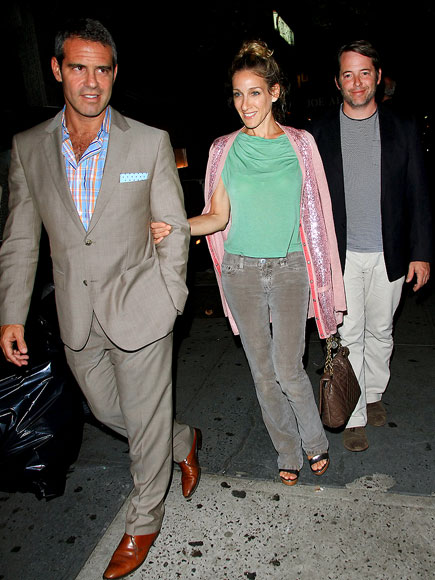DINNER DATES photo | Andy Cohen, Matthew Broderick, Sarah Jessica Parker