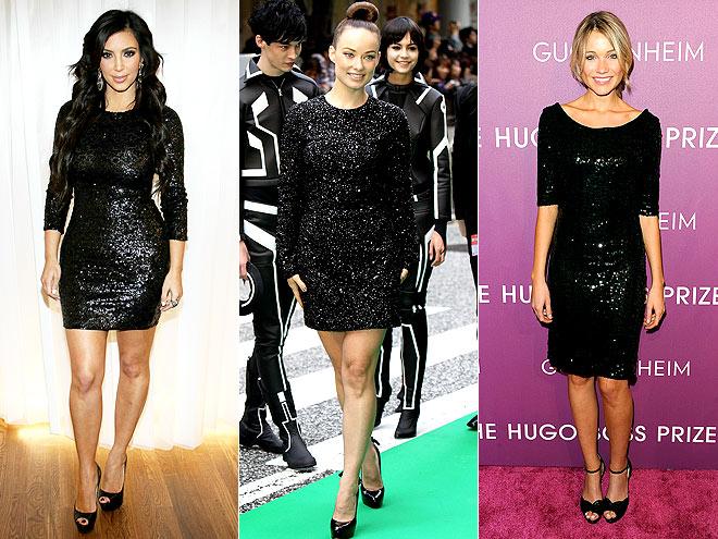 SEQUINED BLACK MINIS photo | Katrina Bowden, Kim Kardashian, Olivia Wilde