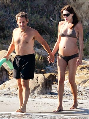 Carla Bruni Shows Off Baby Bump – in a Bikini | Carla Bruni