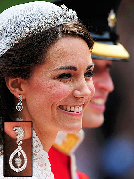 EARRINGS photo | Royal Wedding, Kate Middleton