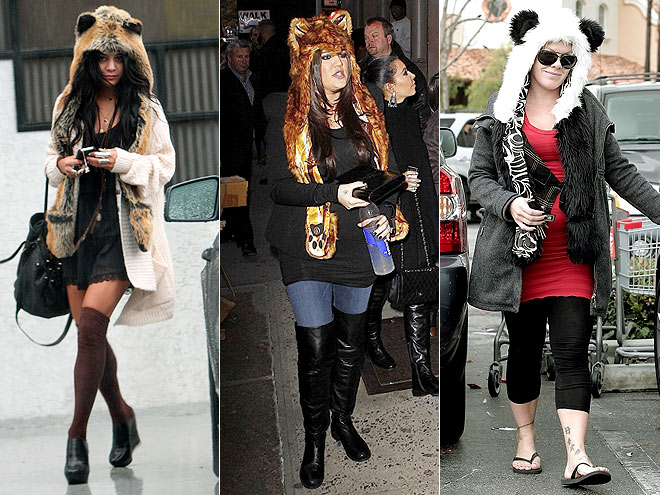 ANIMAL-EAR HOODS photo | Khloe Kardashian, Pink, Vanessa Hudgens