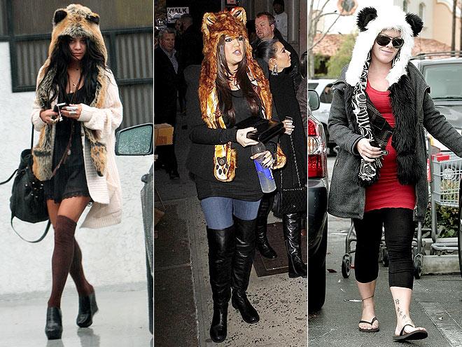 ANIMAL-EAR HOODS photo   Khloe Kardashian, Pink, Vanessa Hudgens
