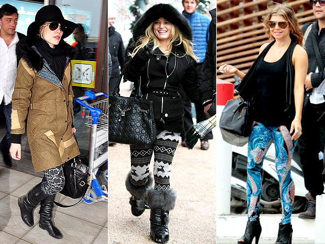 PATTERNED LEGGINGS photo | Fergie, Jessica Simpson, Rachel McAdams