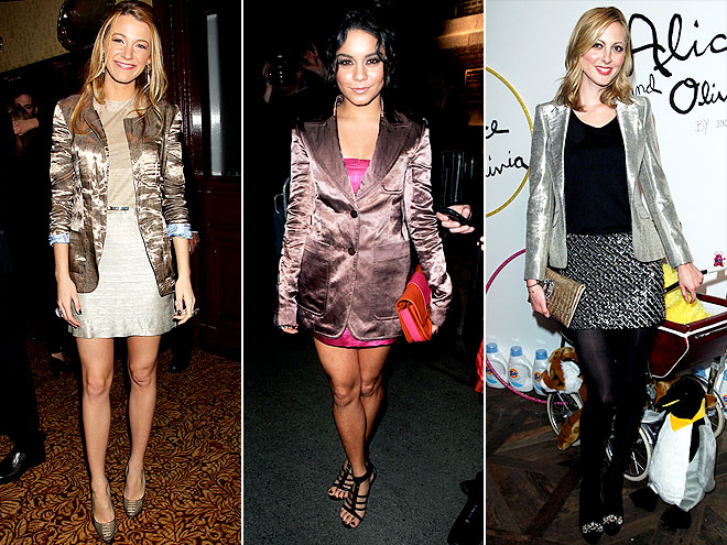 METALLIC BLAZERS photo | Blake Lively, Eva Amurri, Vanessa Hudgens